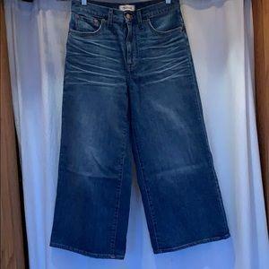 Madewell Wide Leg Crop Jeans